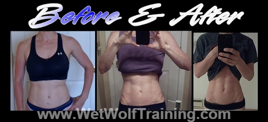 Good example of a pure-ectomorph I worked worked with who was able to cut out 80% of her exercise and increase her food intake resulting in melting off her body fat and building rock hard muscle.